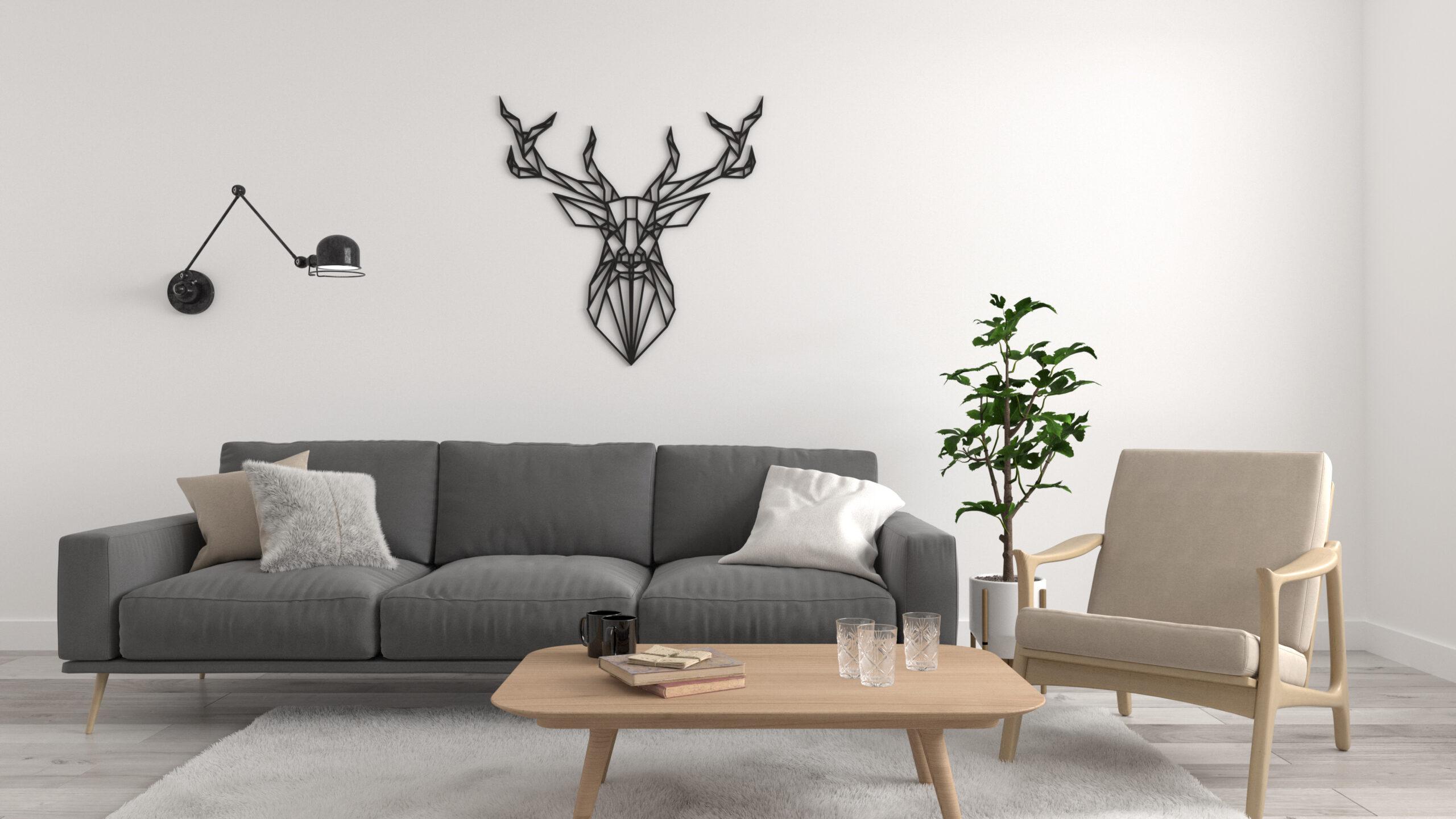 jeleń ażurowy, dekoracja na ścianę ażurowa