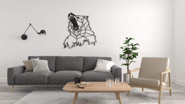 ażurowy niedzwiedź, dekoracje na ścianę