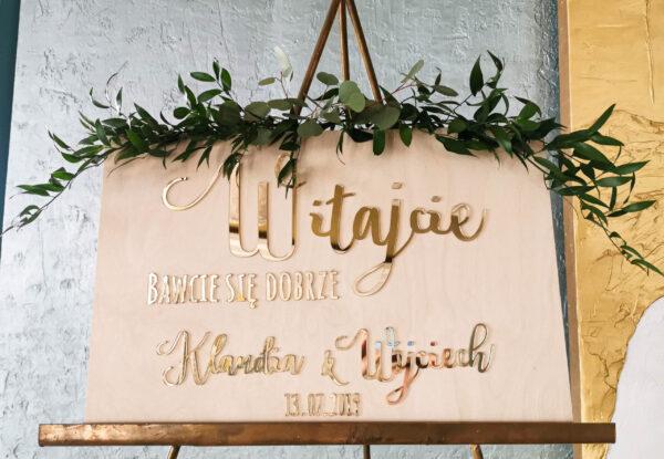 tablica powitalna na ślub, tablica witajaca gości weselnych, witajcie bawcie się dobrze,