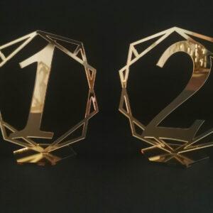 numerki na stół weselny